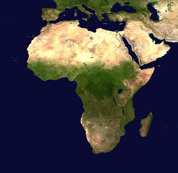 Africa satellite image